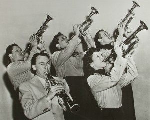 Billie Rogers in Woody Herman's trumpet section